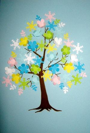 Дерево из бумаги своими руками для детей фото 601