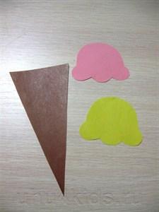 Поделка мороженое из цветной бумаги 4