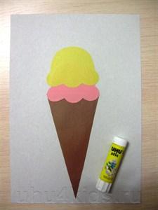 Поделка мороженое из цветной бумаги 38