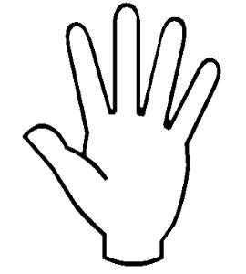 Раскраски рука - 1