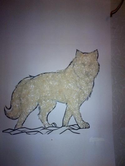 волк из природного материала своими руками фото