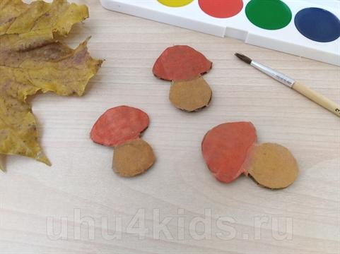 Аппликация «Грибы в лукошке» (для детей 3 - 6 лет ...