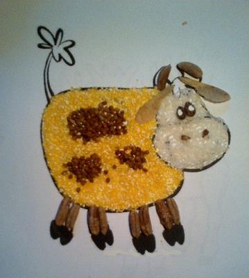 Поделка корова для детей 3 лет