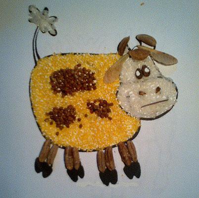 Корова поделка для малышей 124