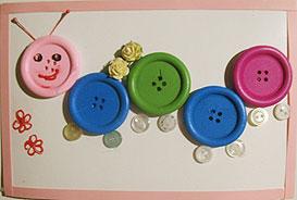 Поделки для детей из пуговиц с