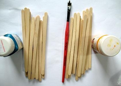 Как сделать карандашницу из палочек для мороженого