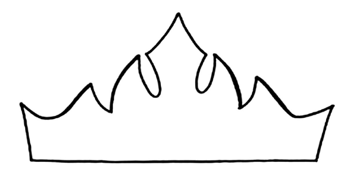 трафарет короны из фоамирана водомета
