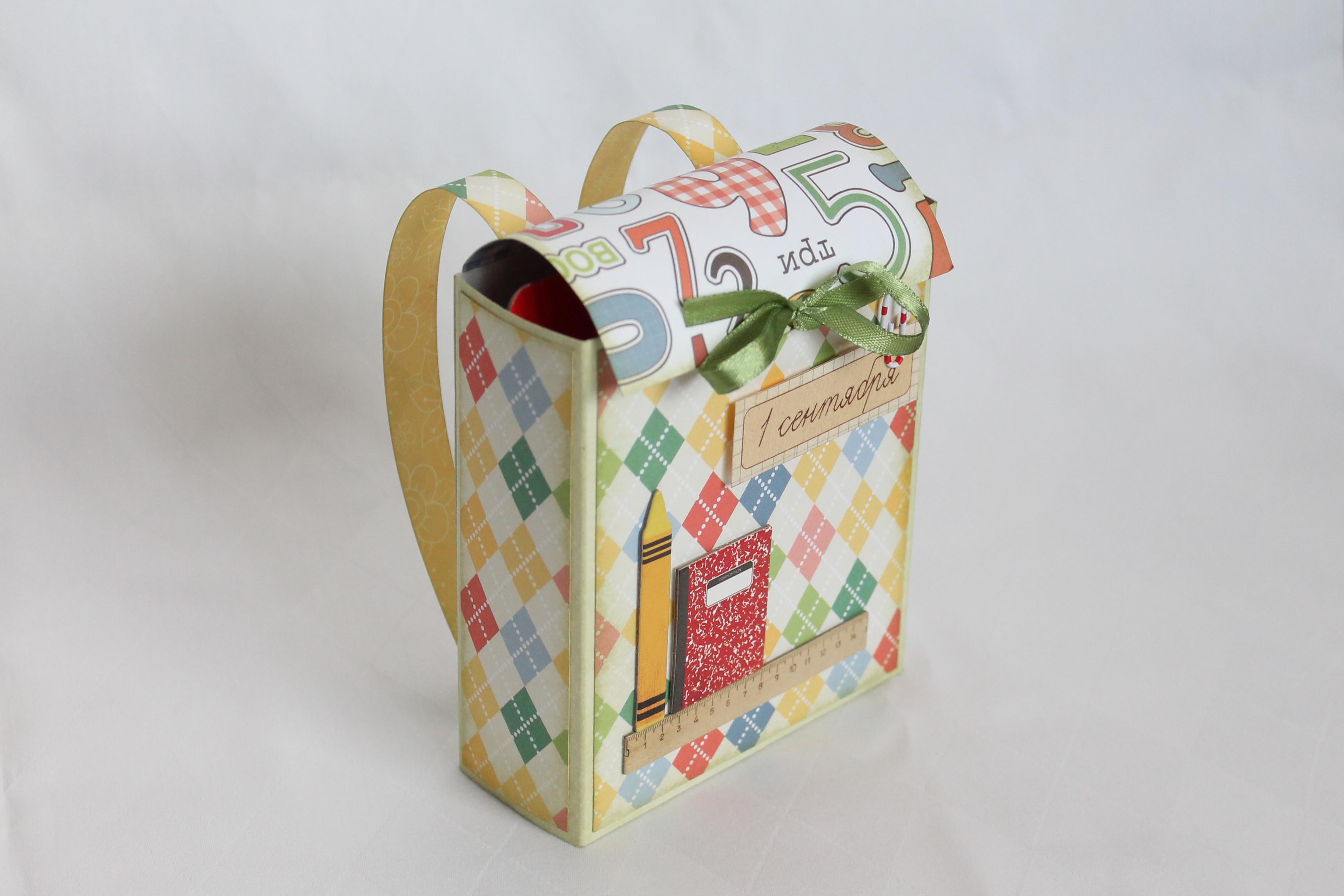 Открытка рюкзак скрапбукинг 26
